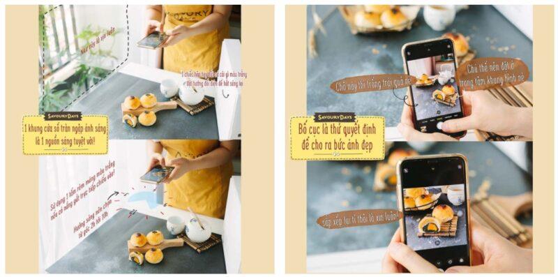 cách chụp ảnh đồ ăn đẹp bằng điện thoại